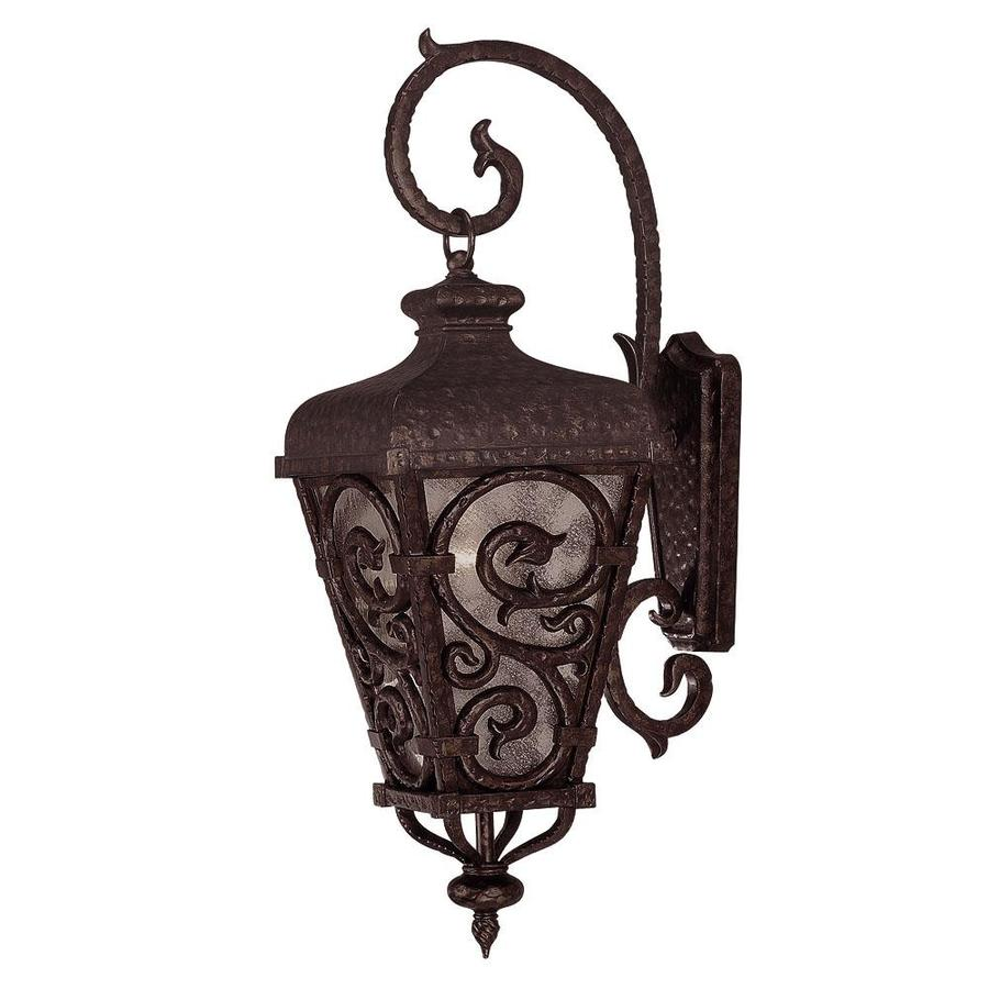 25-in H New Tortoise Shell with Gold Outdoor Wall Light