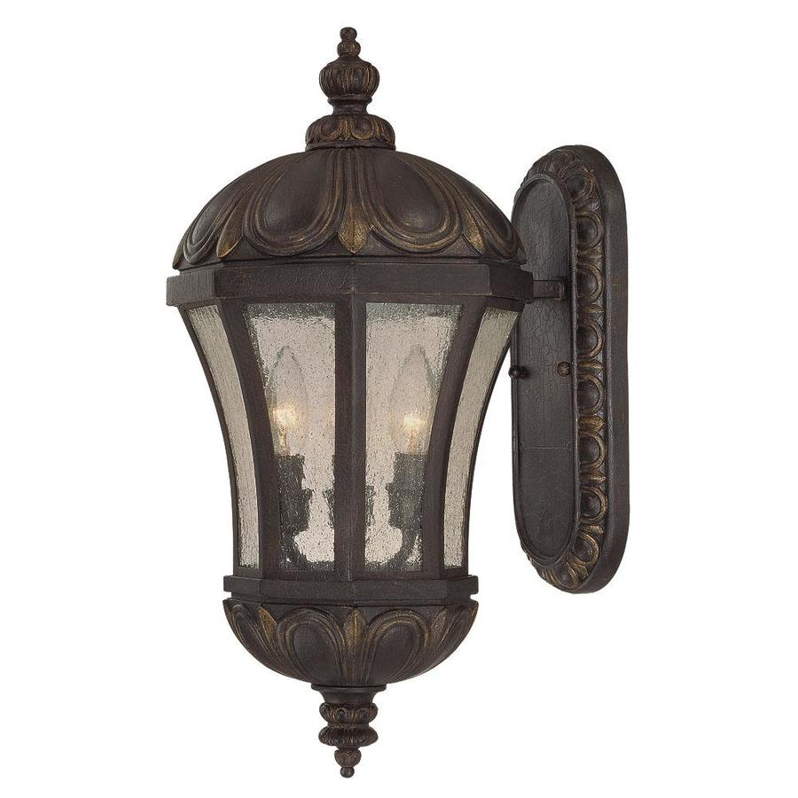 Shop 19.75-in H Old Tuscan Outdoor Wall Light at Lowes.com