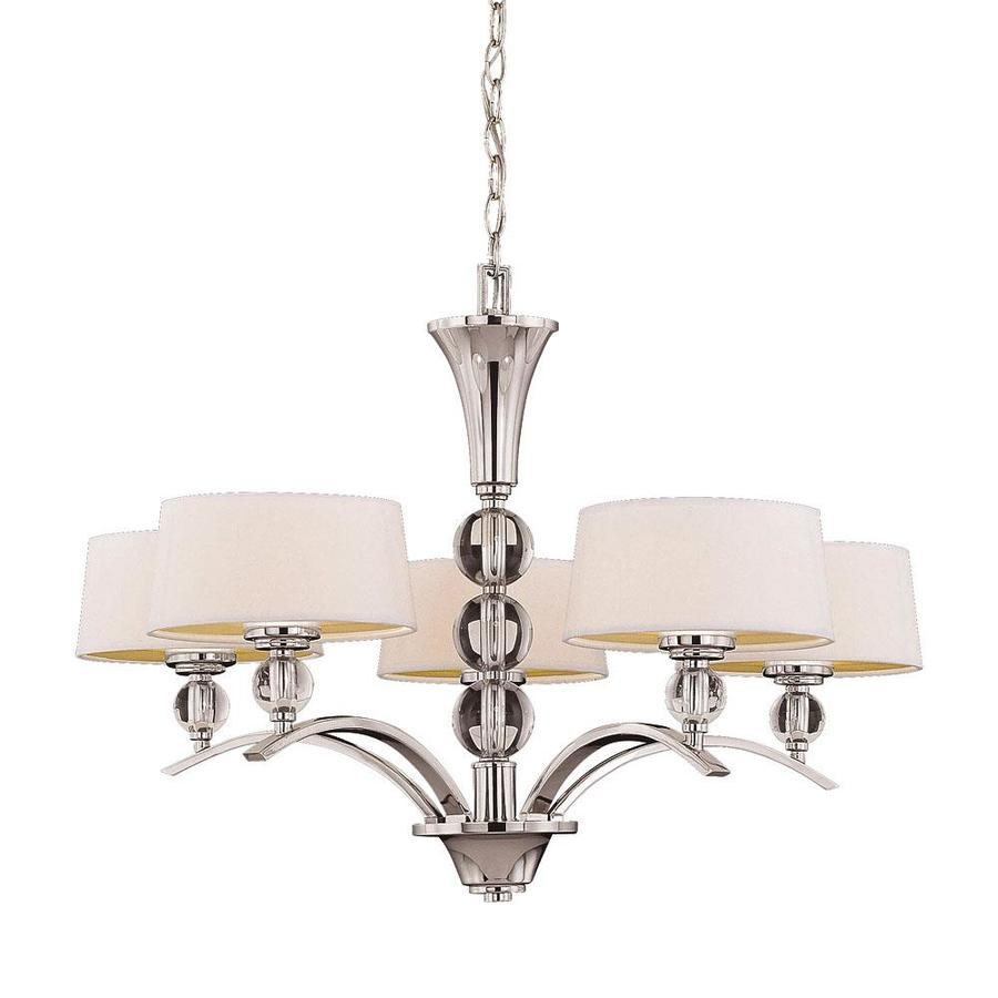 Shandy 30-in 5-Light Polished Nickel Candle Chandelier