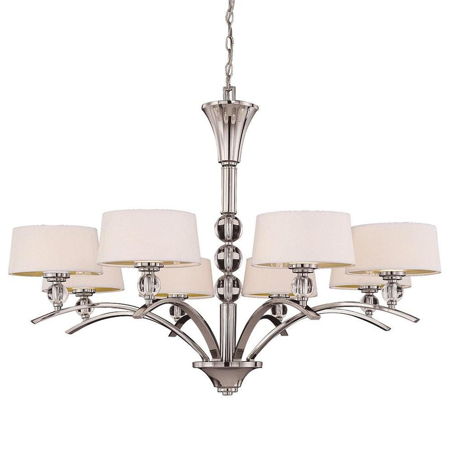 Shandy 41-in 8-Light Polished Nickel Candle Chandelier