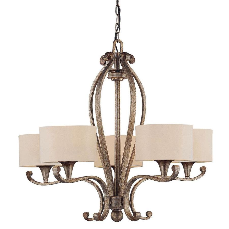 Shandy 29.25-in 5-Light Gold Dust Candle Chandelier