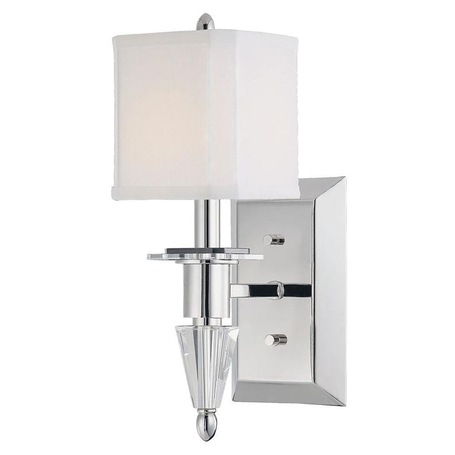 Shandy 5-in W 1-Light Polished Nickel Arm Wall Sconce