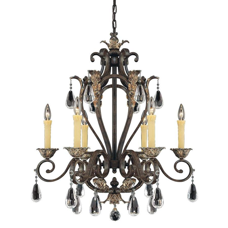 Shandy 28-in 6-Light Fiesta Bronze Candle Chandelier