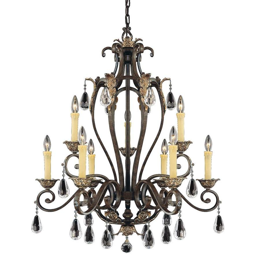 Shandy 32-in 9-Light Fiesta Bronze Candle Chandelier