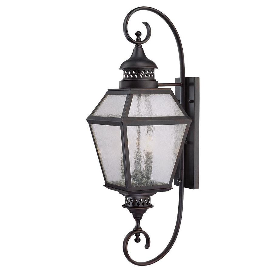 37.75-in H English Bronze Outdoor Wall Light