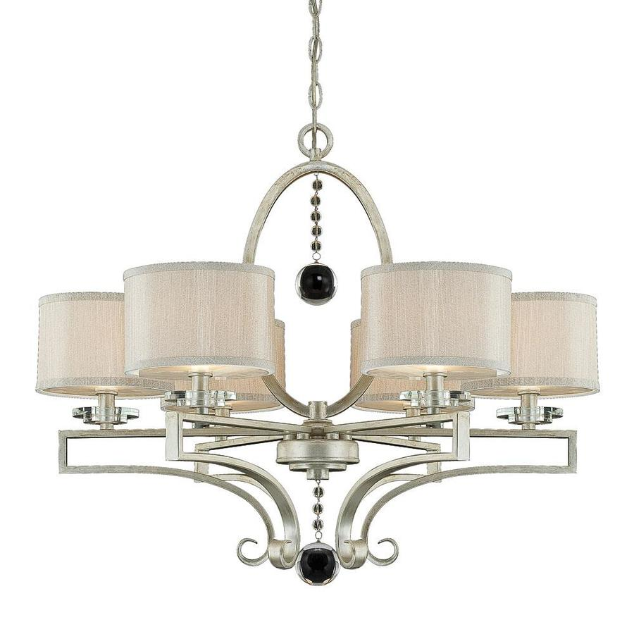 Shandy 30-in 6-Light Silver Sparkle Candle Chandelier