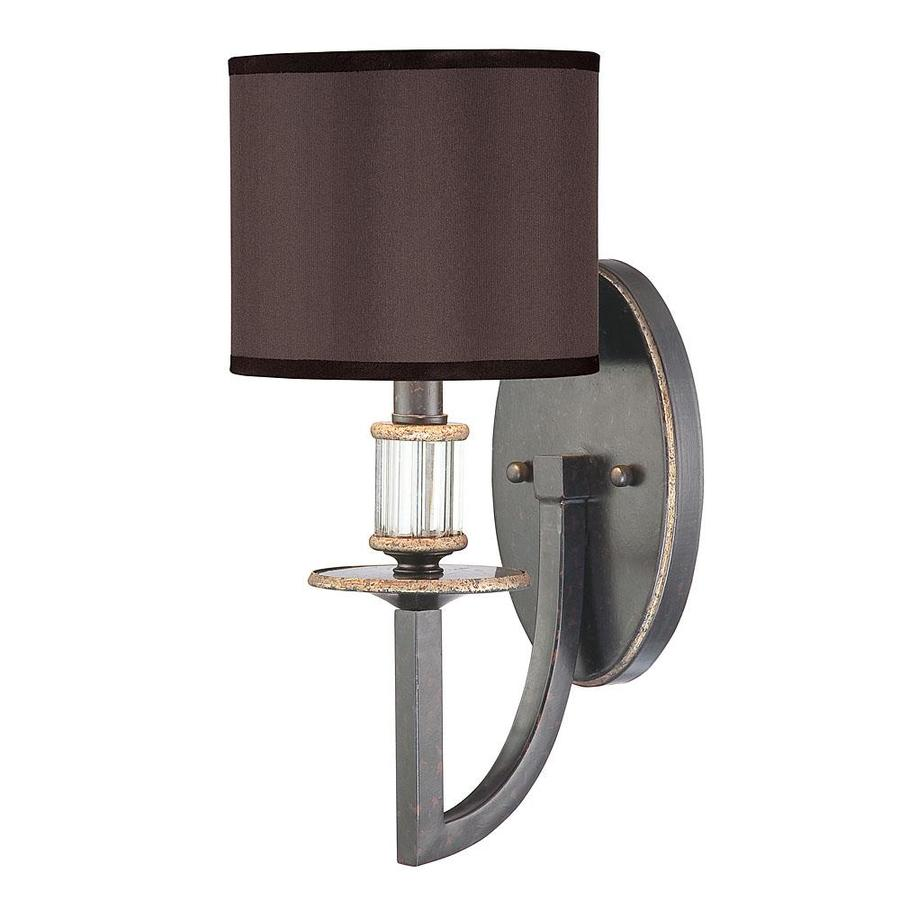 Shandy 6.5-in W 1-Light Distressed Bronze Arm Wall Sconce