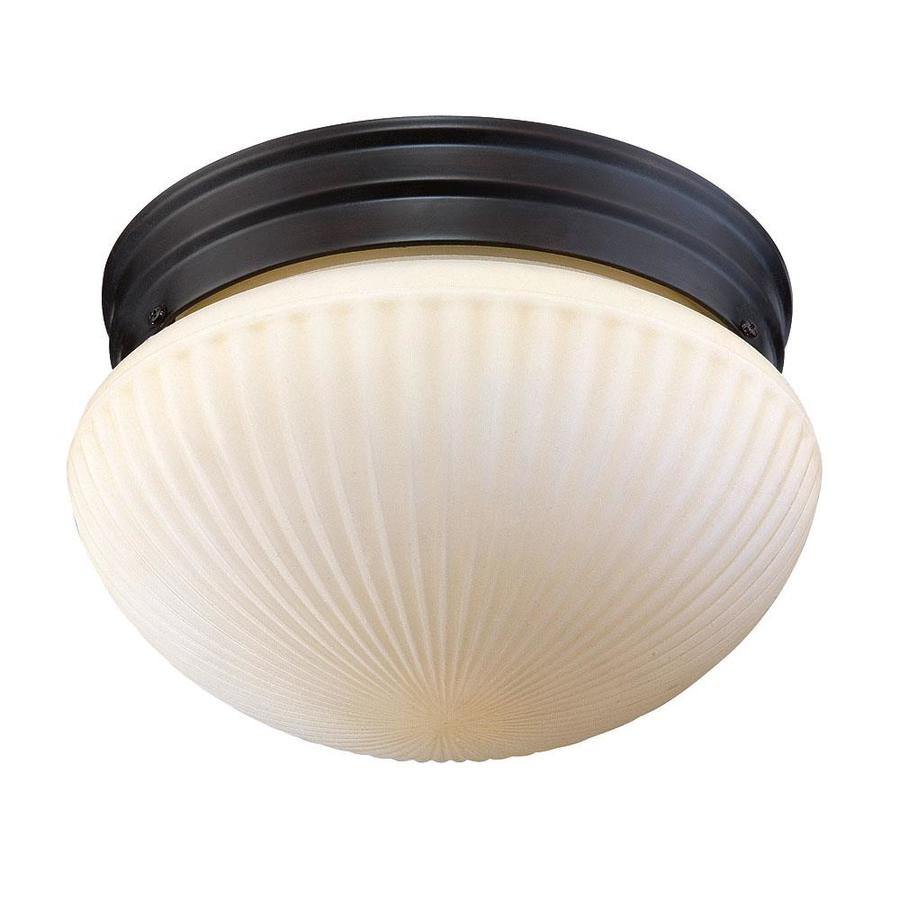 7-in W English Bronze Ceiling Flush Mount Light