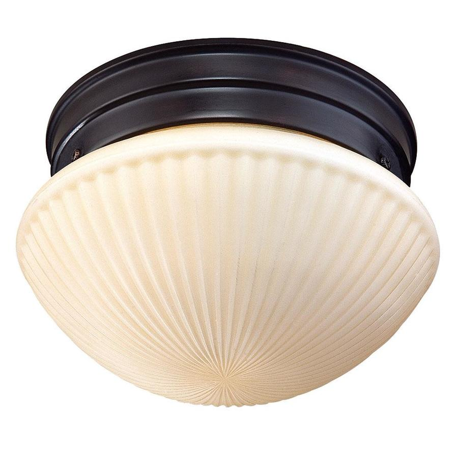 9-in W English Bronze Ceiling Flush Mount Light