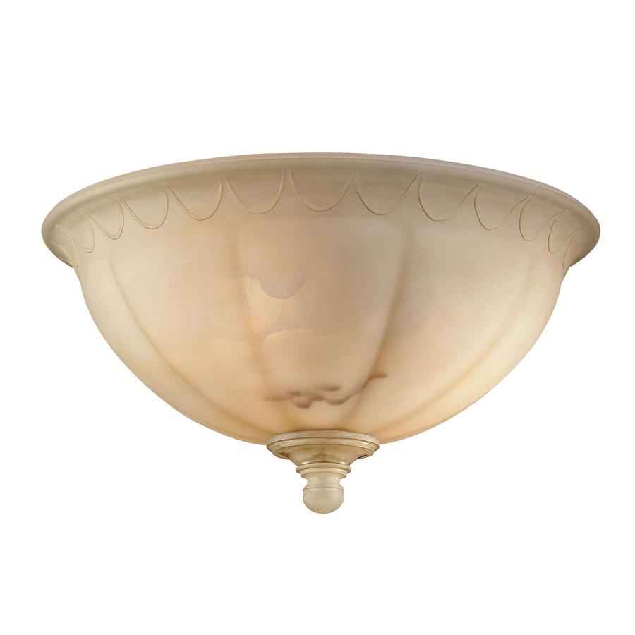 2-Light Cream Incandescent Ceiling Fan Light Kit