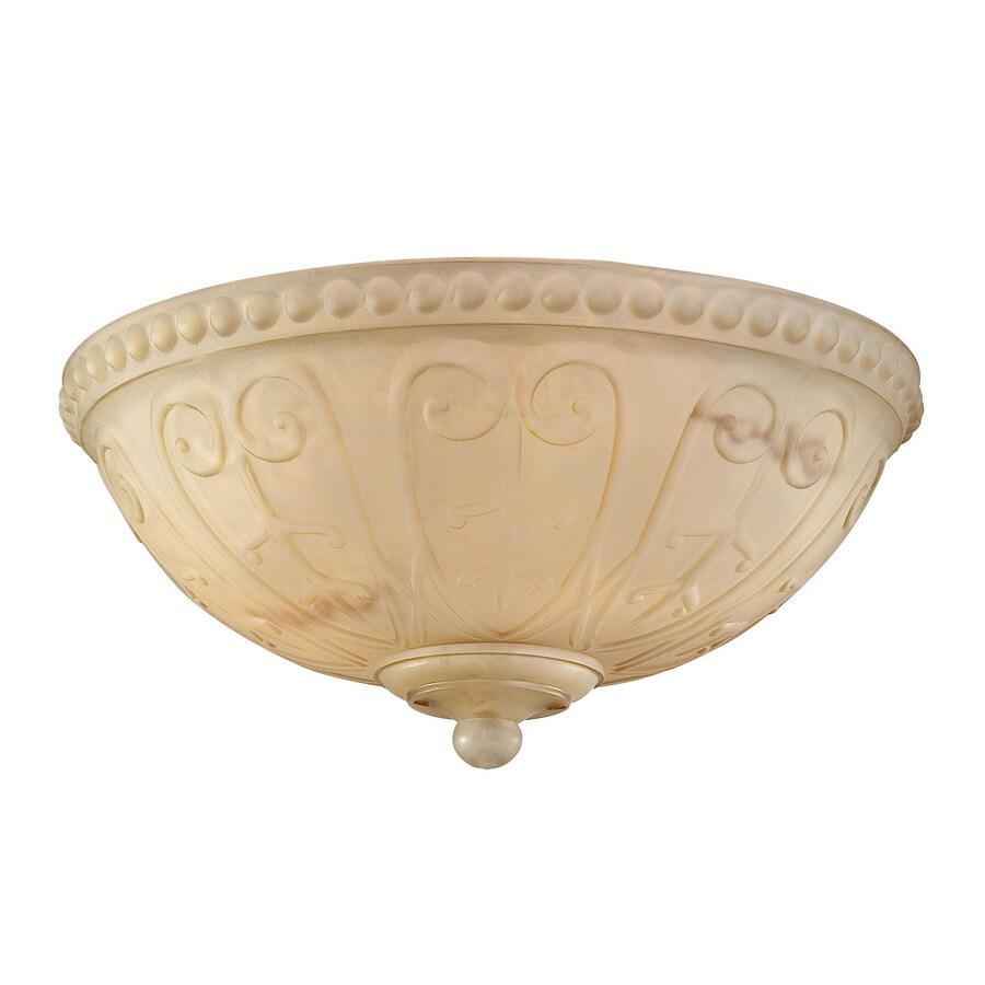 3-Light Cream Incandescent Ceiling Fan Light Kit