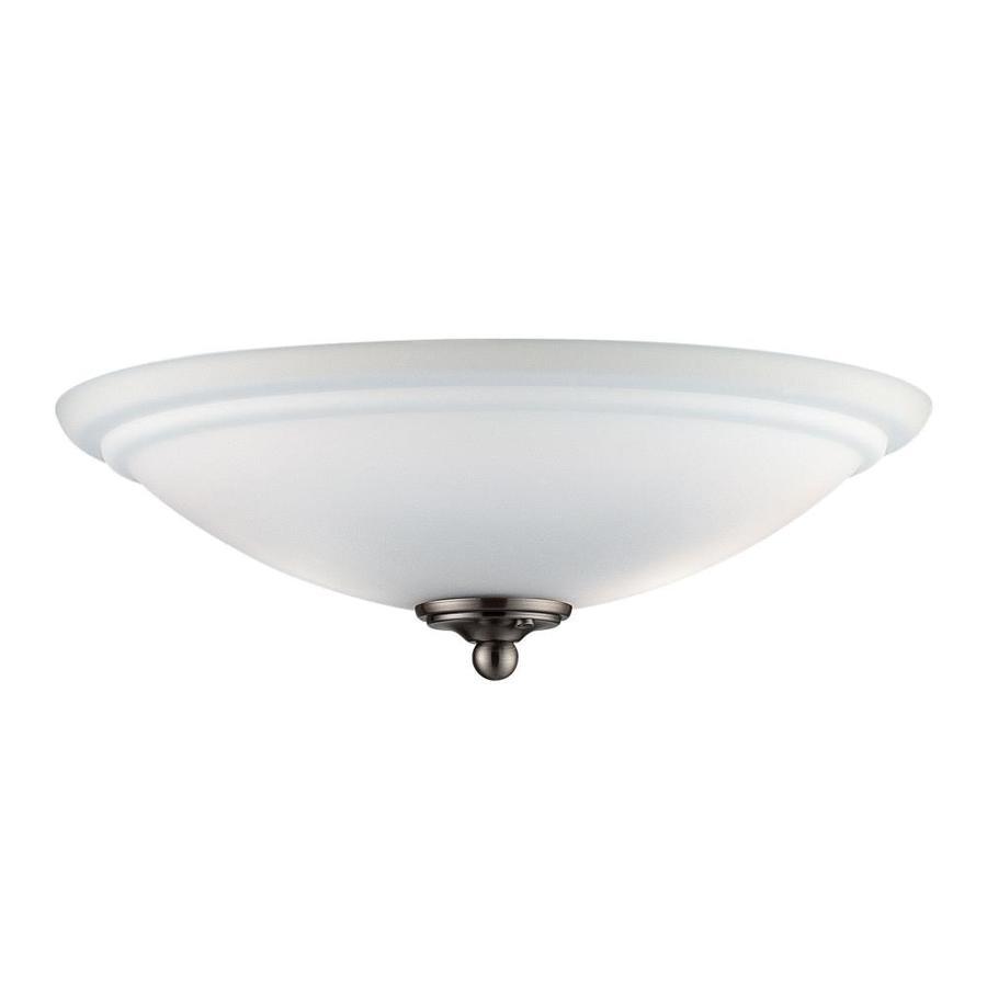 2-Light Brushed Pewter Incandescent Ceiling Fan Light Kit