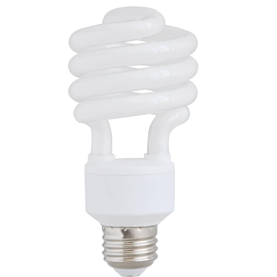 Utilitech 2-Pack 23-Watt (100W Equivalent) 2,700K Medium (E-26) Base Soft White Decorative CFL Bulbs ENERGY STAR
