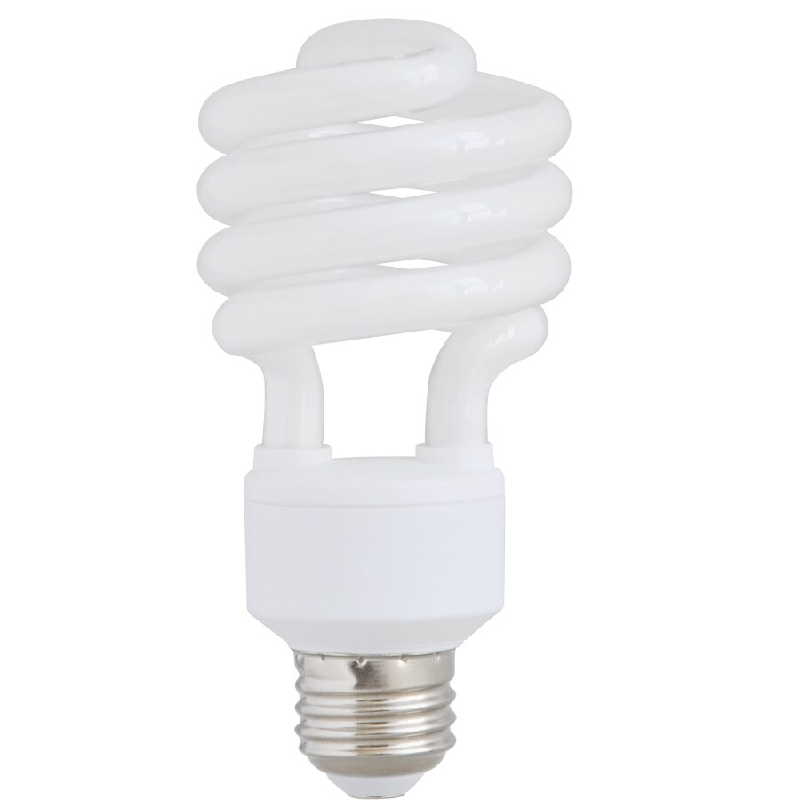 Utilitech 4-Pack 23-Watt (100W Equivalent) ,5,000K Medium (E-26) Base Daylight Decorative CFL Bulbs ENERGY STAR