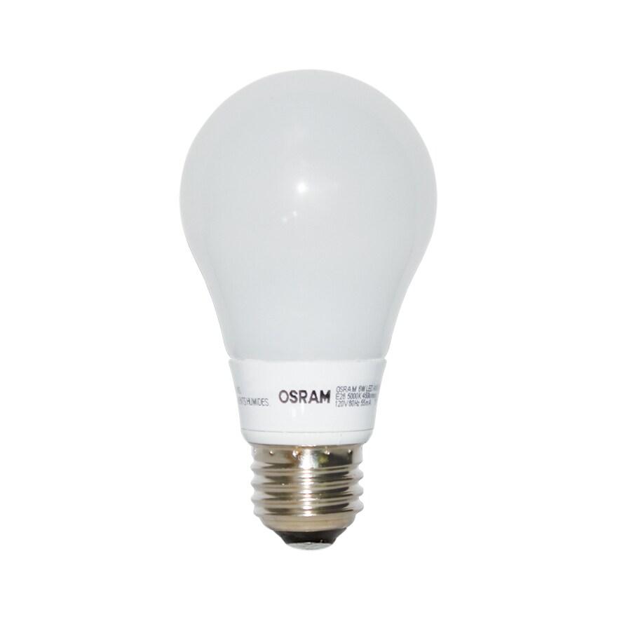 OSRAM 6-Watt (40W Equivalent) 5000K A19 Medium Base (E-26) Dimmable Daylight Indoor LED Bulb ENERGY STAR