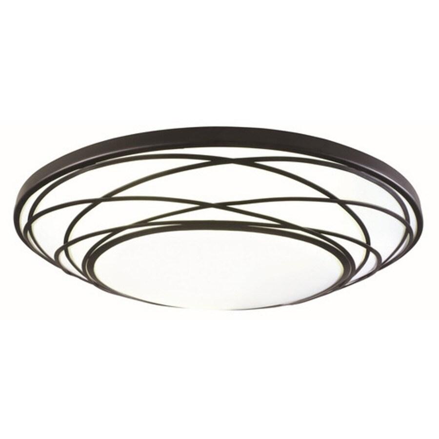 Portfolio 19-in W Black LED Ceiling Flush Mount Light