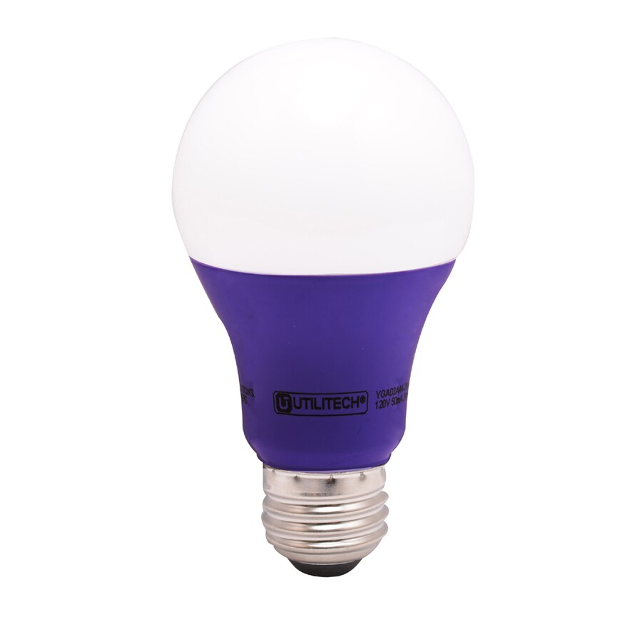 Utilitech 3-Watt Medium Base (E-26) Purple Decorative LED Light Bulb