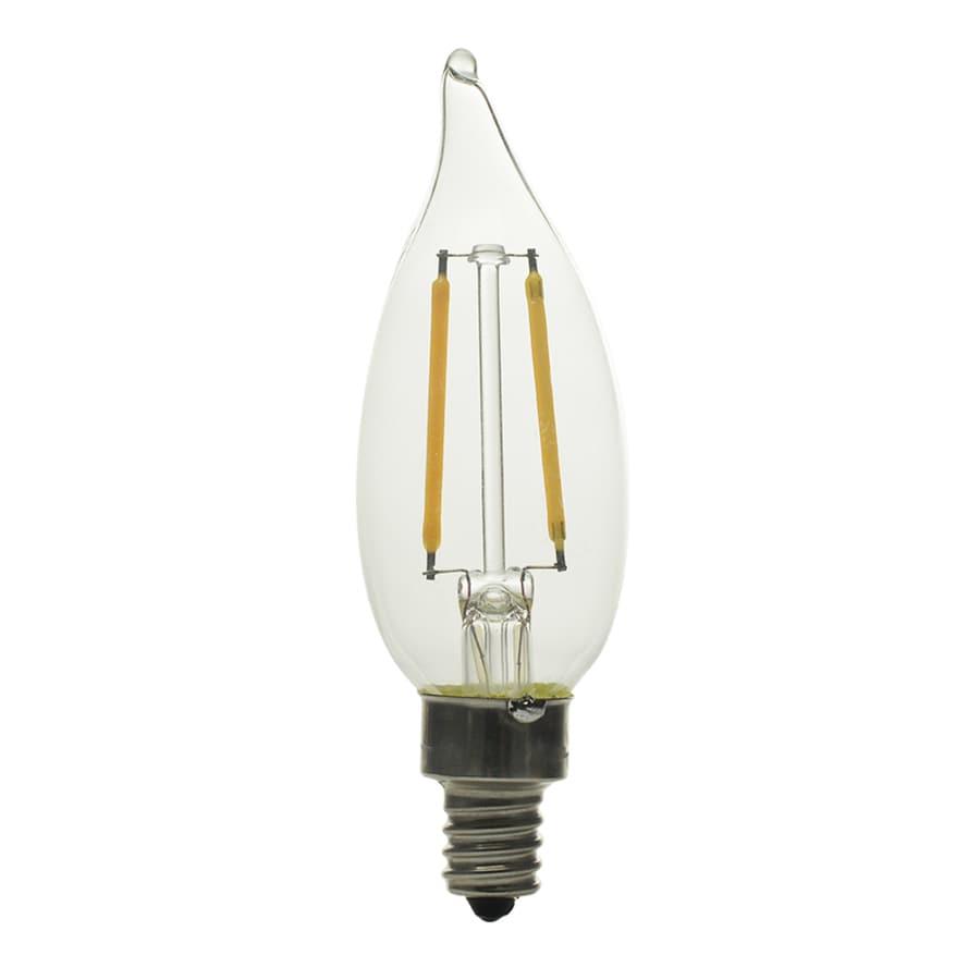 Kichler Lighting 2.5-Watt (25W Equivalent) 2700K Candelabra Base (E-12) Soft White Dimmable Decorative LED Light Bulb