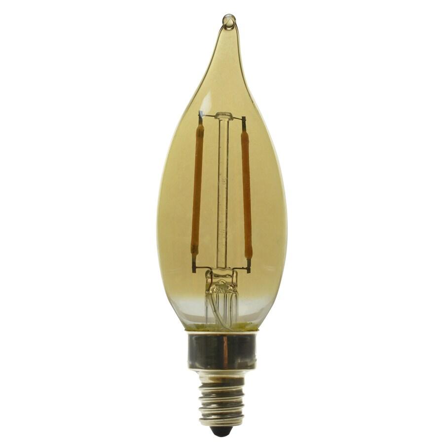 Kichler Lighting 2.5-Watt (40W Equivalent) 2200K Candelabra Base (E-12) Amber Dimmable Decorative LED Light Bulb