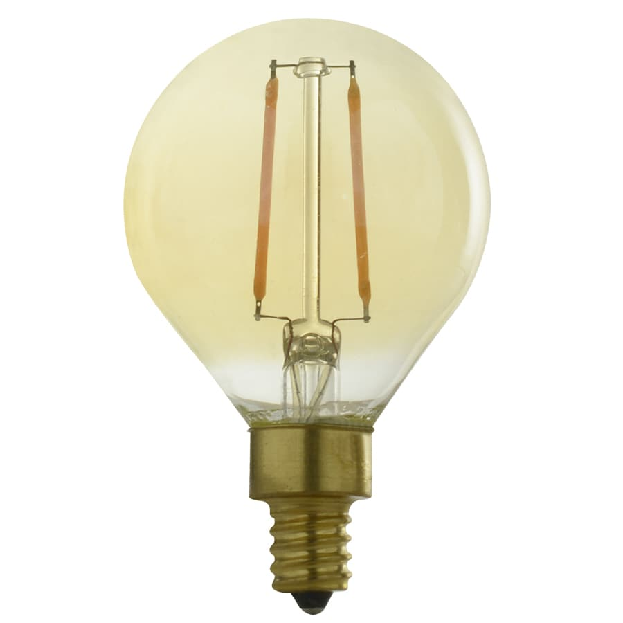Kichler Lighting 2.5-Watt (40W Equivalent) 2,200K Candelabra Base (E-12) Amber Dimmable Decorative LED Light Bulb