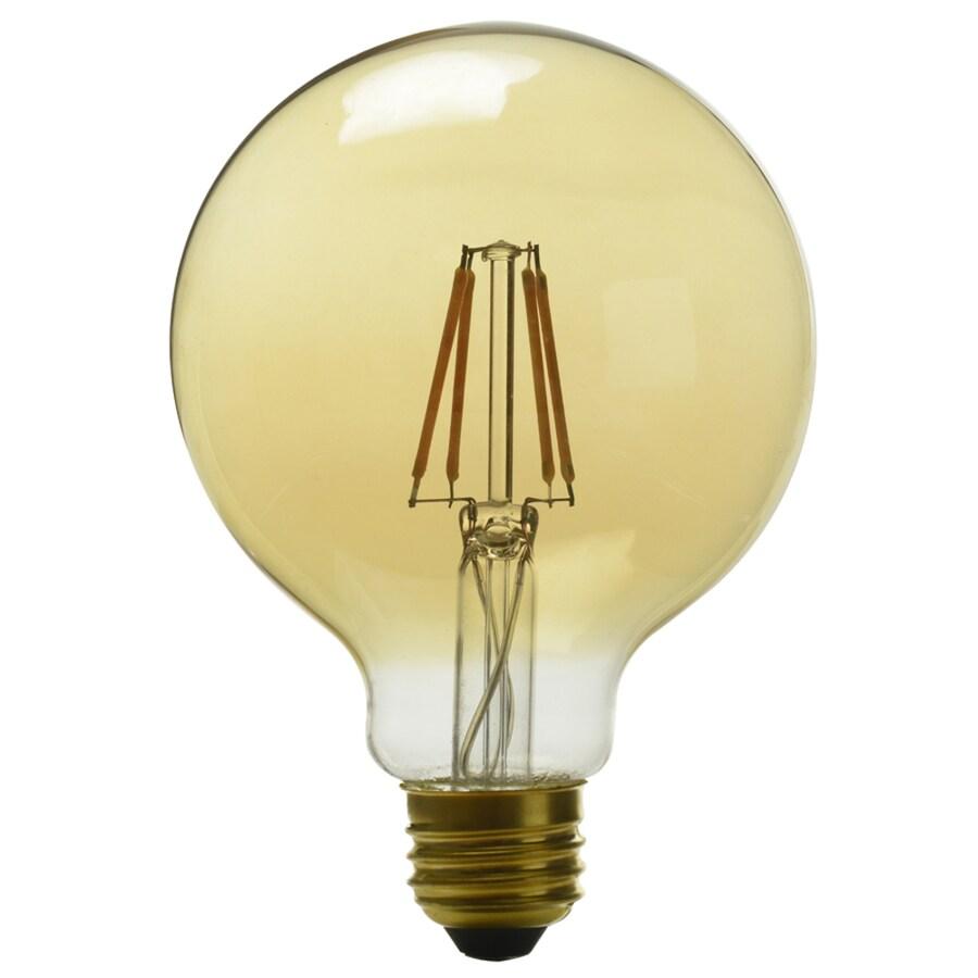 Kichler Lighting 4-Watt (60W Equivalent) 2200K Medium Base (E-26) Amber Dimmable Decorative LED Light Bulb