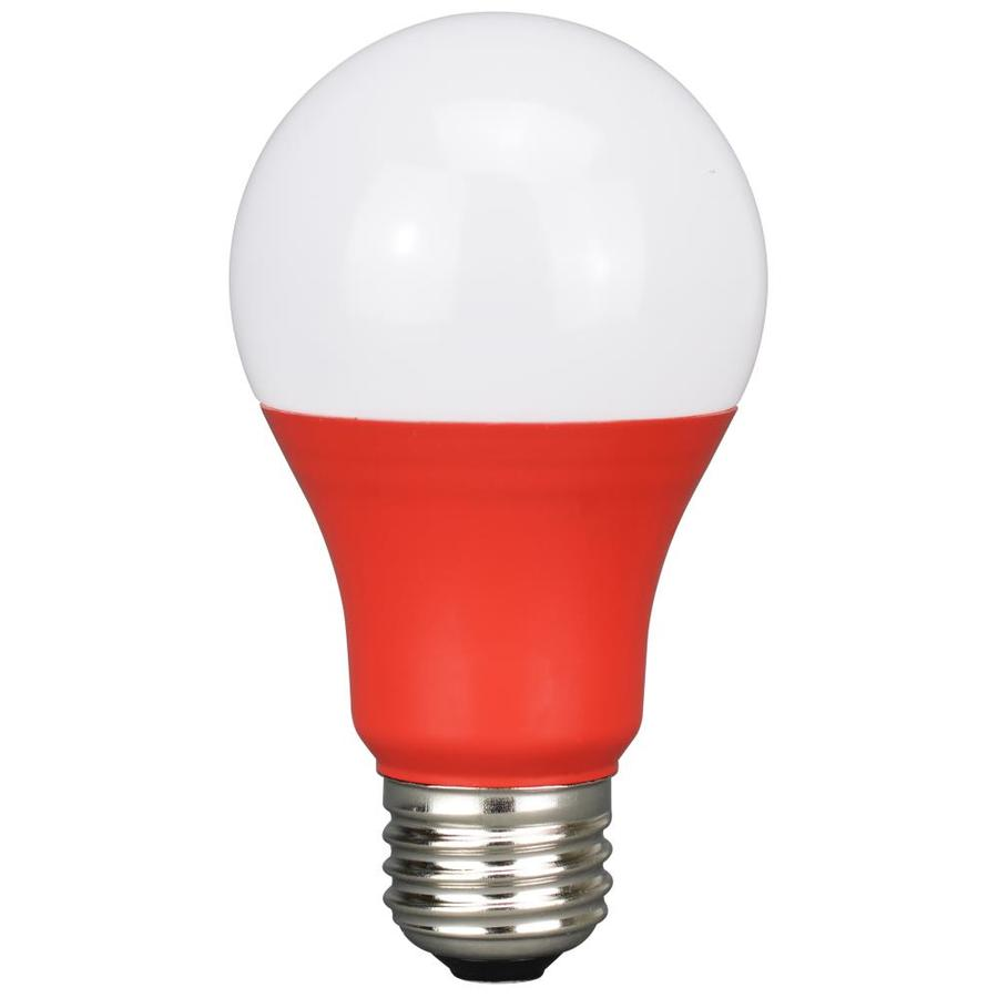 Energetic A19 Red Led Light Bulb In The General Purpose Led Light Bulbs Department At Lowes Com