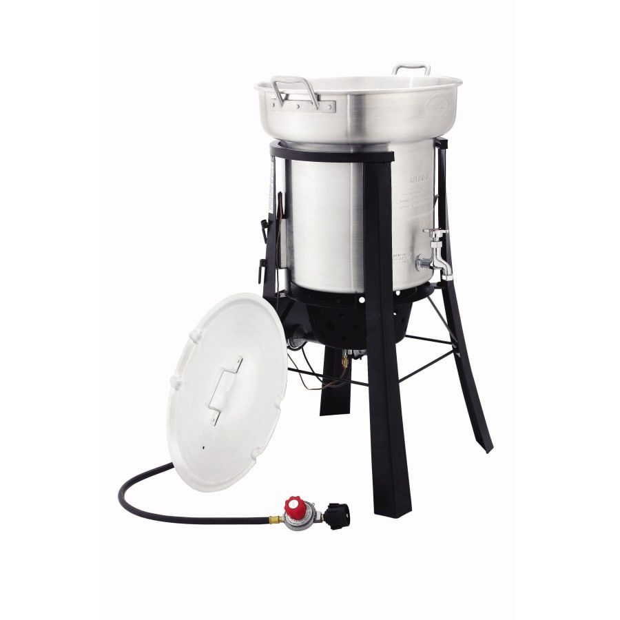 North American Outdoors Saf-T-Cooker 35-Quart 20-lb Cylinder Electronic Ignition Gas Fryer