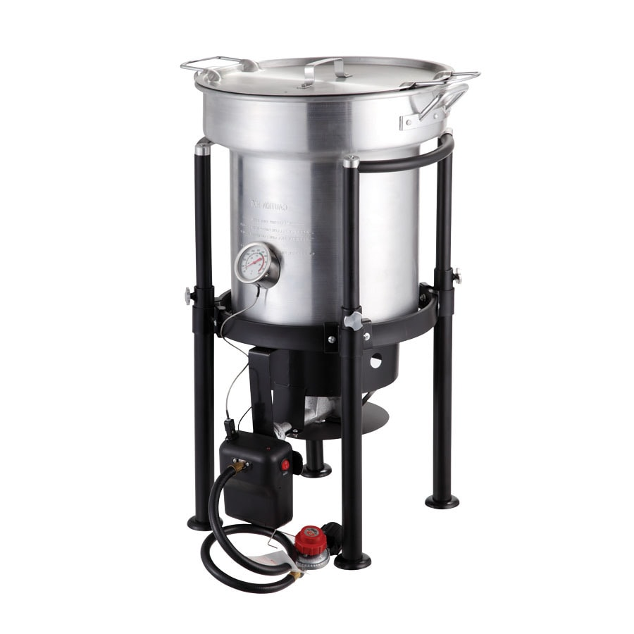North American Outdoors Saf-T-Cooker 35-Quart 20-lb Cylinder Electronic Ignition Gas Turkey Fryer