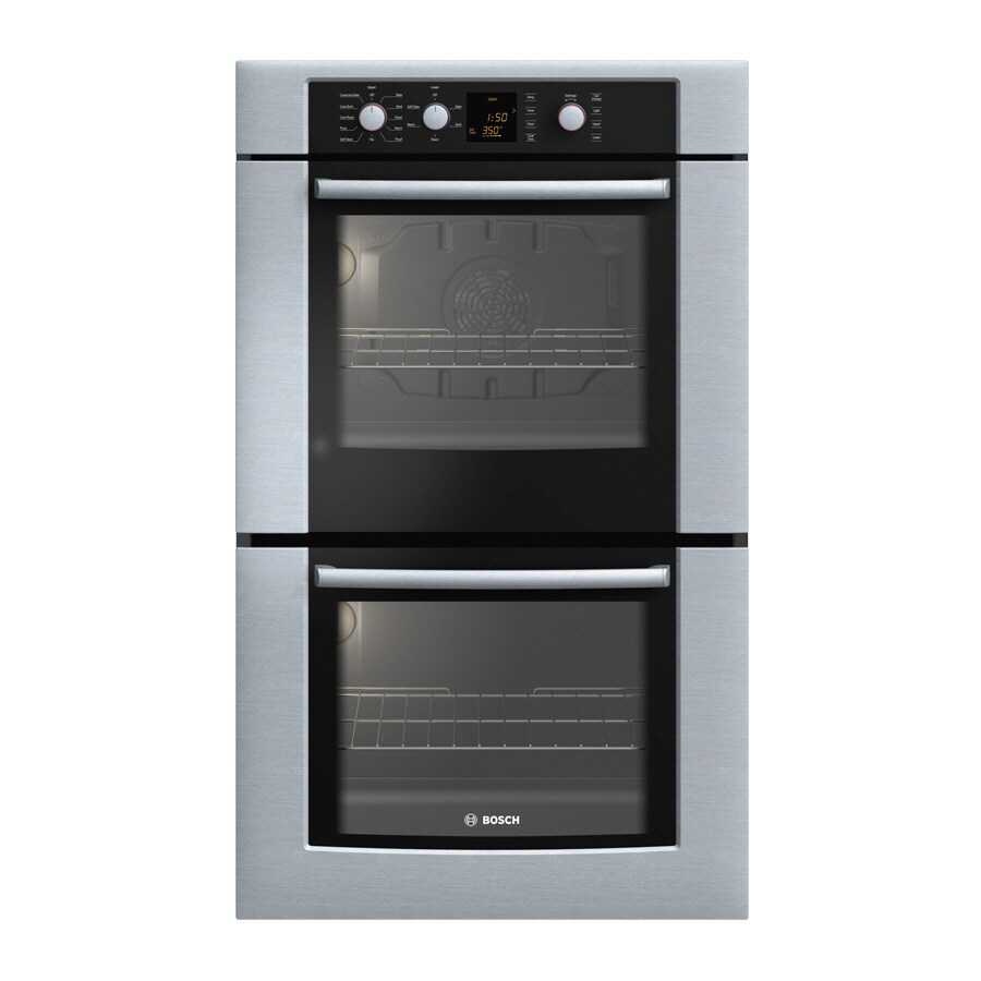 Bosch 500 Series 30-in Self-Cleaning Convection Double Electric Wall Oven (Stainless)