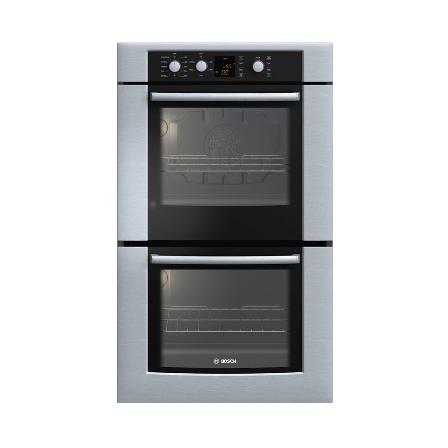 Bosch 300 Series 30-in Self-Cleaning Convection Double Electric Wall Oven (Stainless)