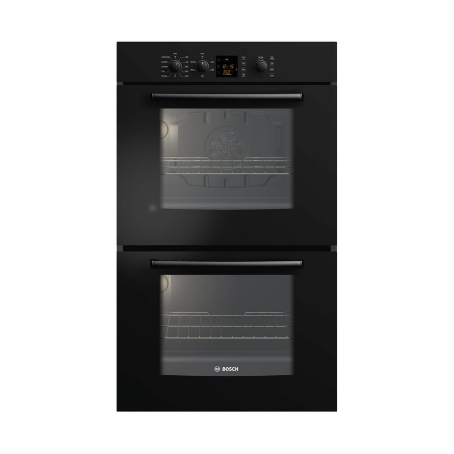 Bosch 300 Series 30-in Self-Cleaning Convection Double Electric Wall Oven (Black)