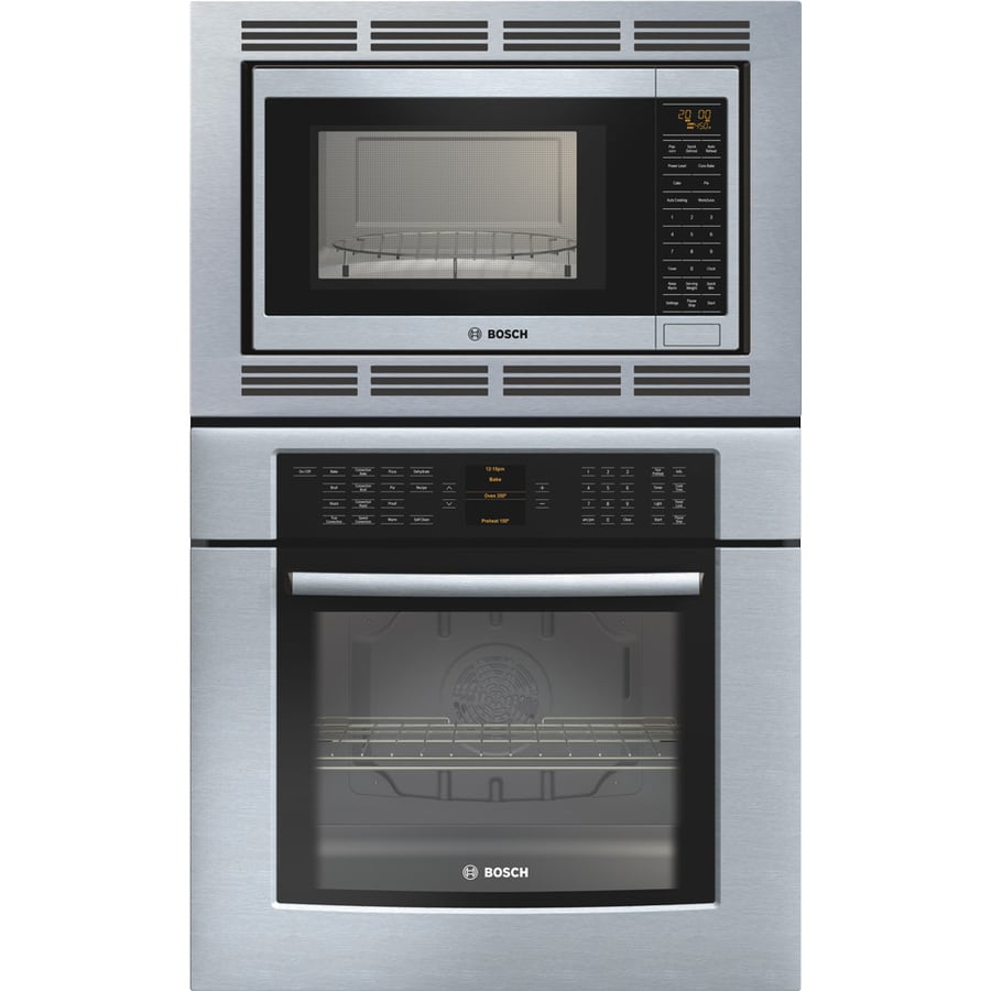 Shop Bosch 29 3 4 In Self Cleaning Convection Microwave
