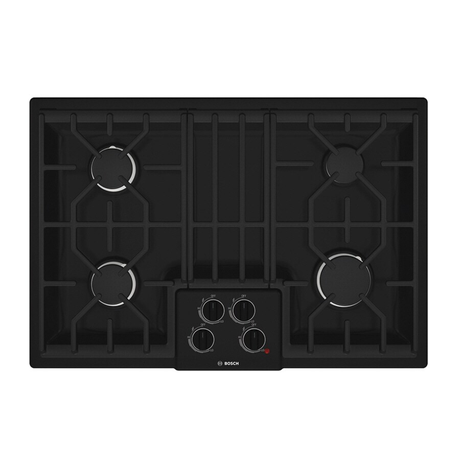 Bosch 500 Series 30-in 4-Burner Gas Cooktop (Black)