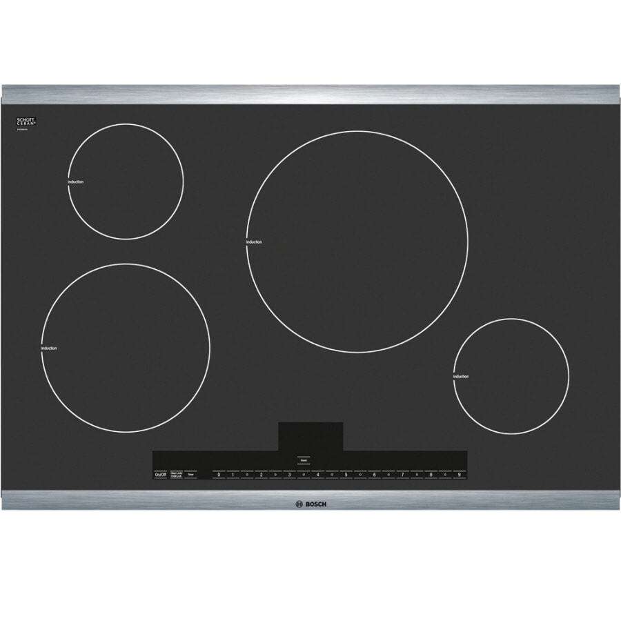 Bosch 500 Series 30-in Smooth Surface Induction Electric Cooktop (Stainless Steel)