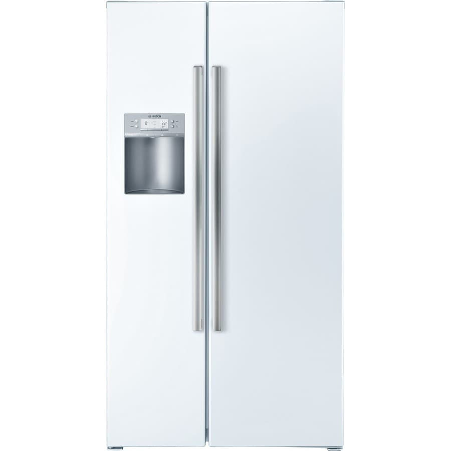 Bosch 500 Series 21.7-cu ft Counter-Depth Side-By-Side Refrigerator with Single Ice Maker (White) ENERGY STAR