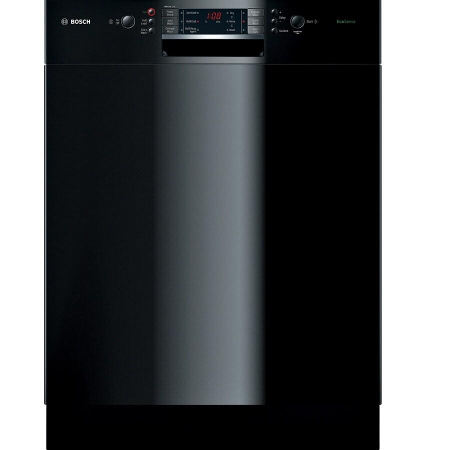 Bosch 300 Series 49-Decibel Built-In Dishwasher (Black) (Common: 24-in; Actual 23.625-in) ENERGY STAR