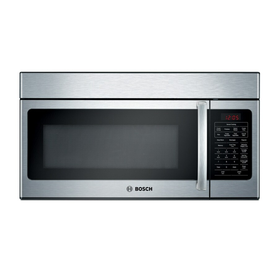 Bosch 30-in 1.7-cu ft Over-the-Range Microwave with Sensor Cooking Controls (Stainless)