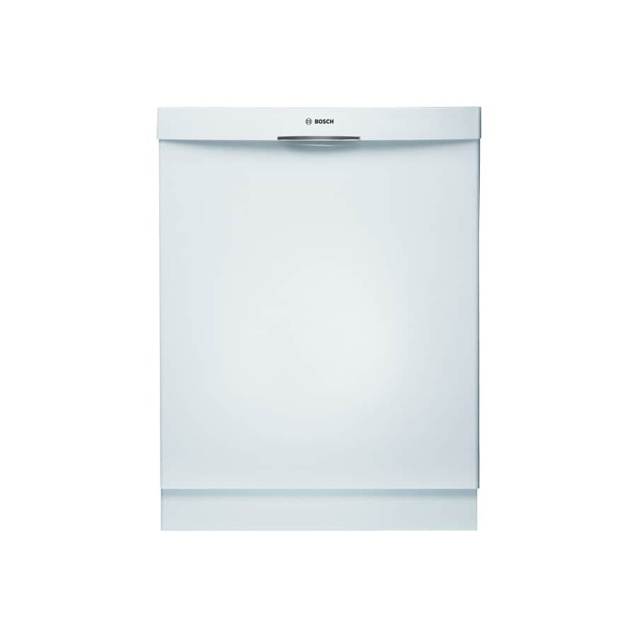 Bosch 300 Series 24-in Built-In Dishwasher with Stainless Steel Tub (White) ENERGY STAR