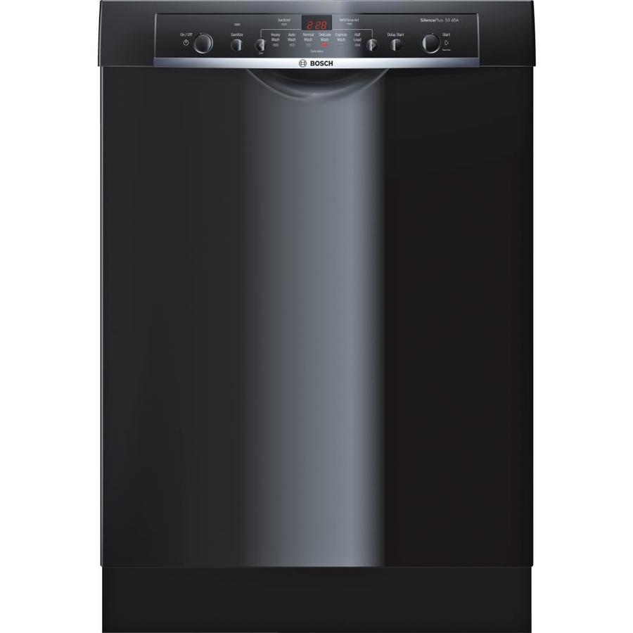 Bosch Ascenta 50-Decibel Built-in Dishwasher (Black) (Common: 24-in; Actual: 23.625-in)