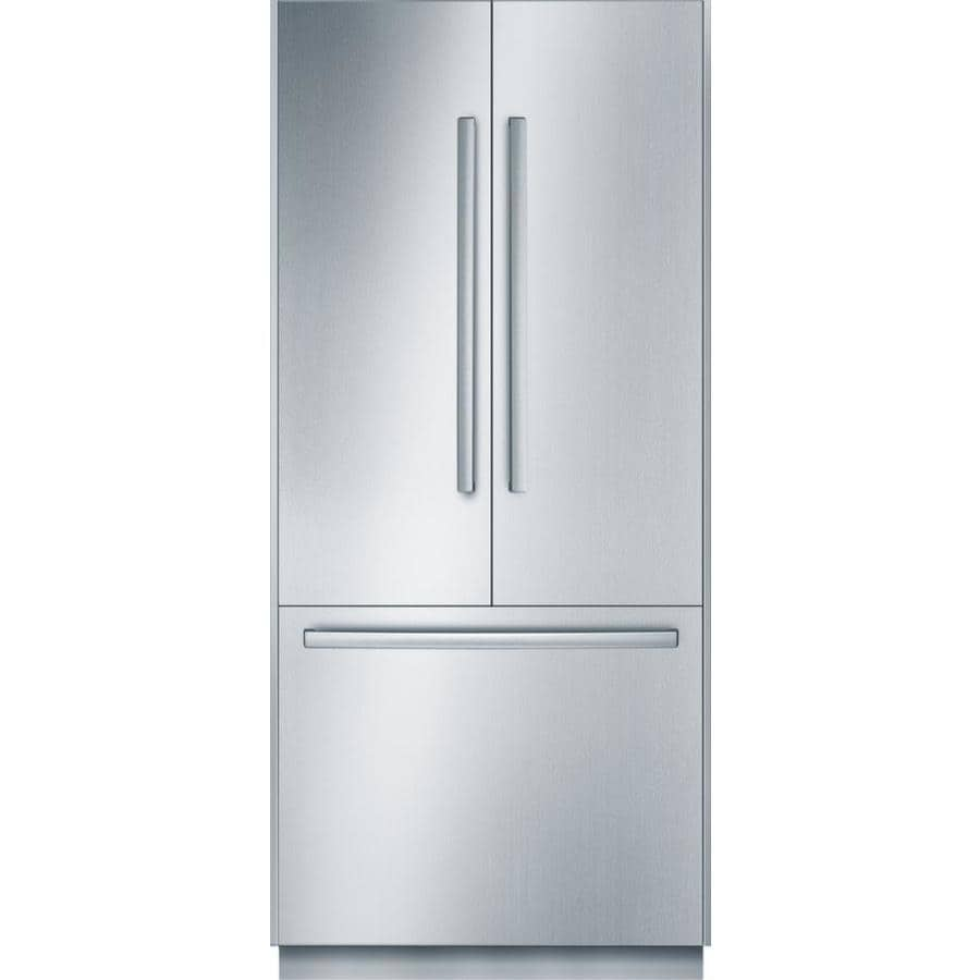 Bosch 19.5-cu ft Built-in French Door Refrigerator with Single Ice Maker (Stainless Steel) ENERGY STAR