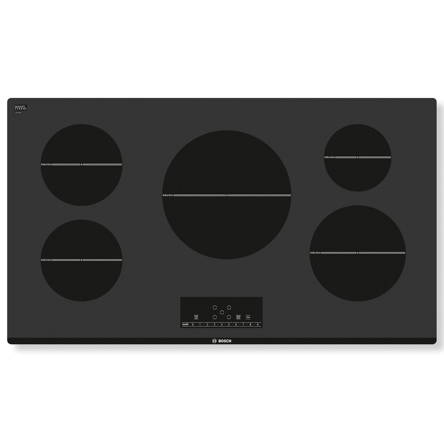 Bosch 500 Series 5-Element Smooth Surface Induction Electric Cooktop (Black) (Common: 36-in; Actual 37-in)