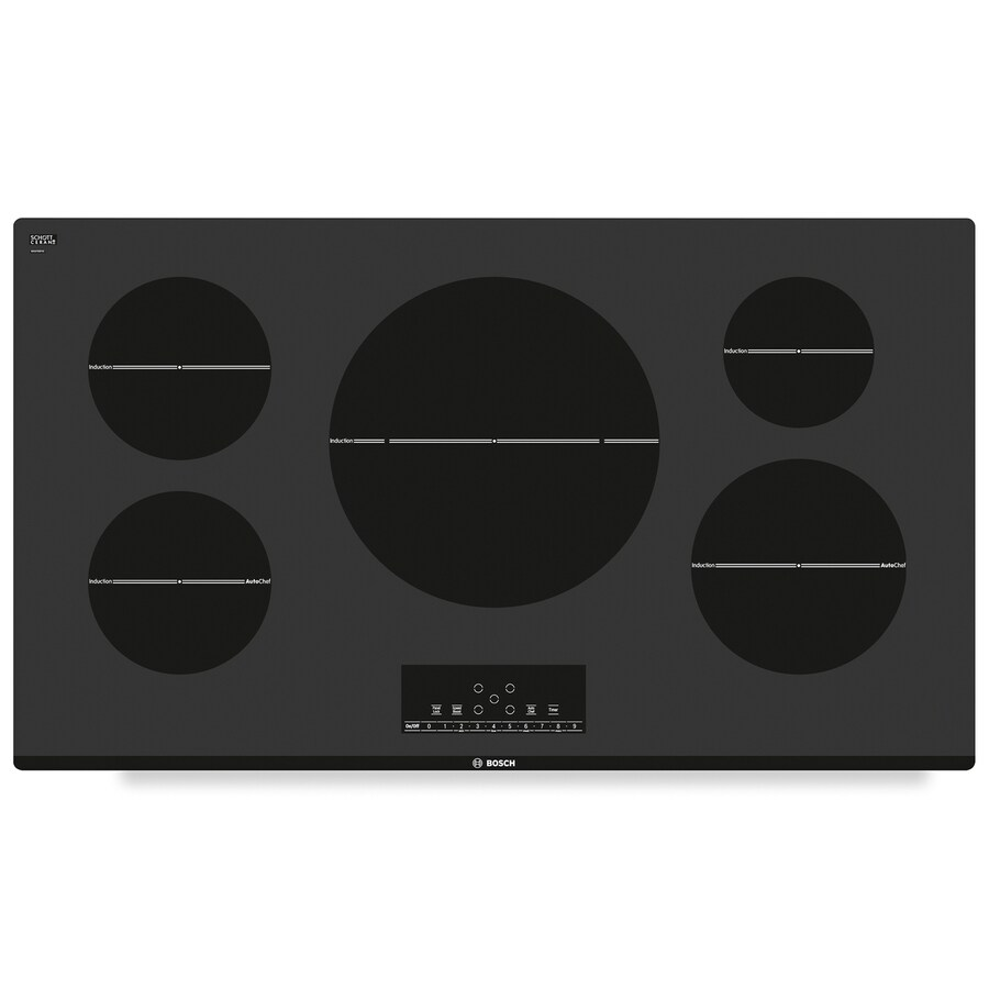 Bosch 800 Series 5-Element Smooth Surface Induction Electric Cooktop (Black) (Common: 36-in; Actual 37-in)