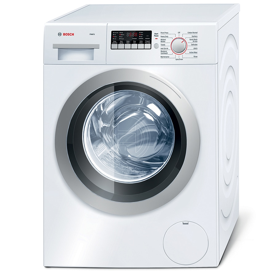 Bosch 2.2-cu ft High-Efficiency Stackable Front-Load Washer (White Silver)