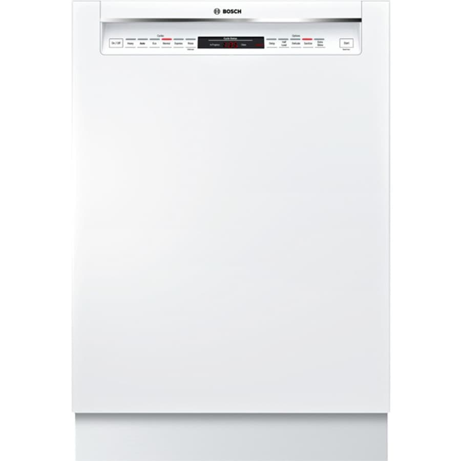 Bosch 800 Series 44-Decibel Built-In Dishwasher (White) (Common: 24-in; Actual: 23.625-in) ENERGY STAR