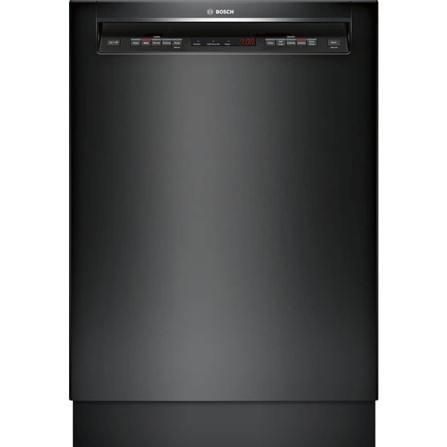 Bosch 500 Series 44-Decibel Built-In Dishwasher (Black) (Common: 24-in; Actual: 23.625-in) ENERGY STAR