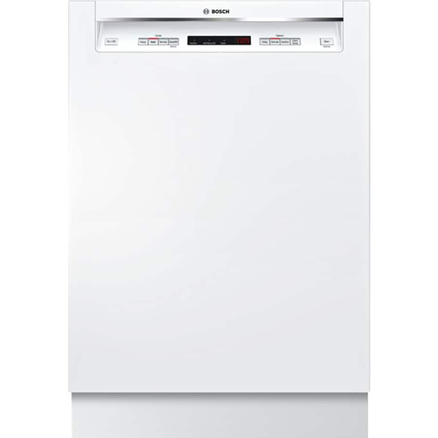Bosch 300 Series 46-Decibel Built-In Dishwasher (White) (Common: 24-in; Actual: 23.625-in) ENERGY STAR