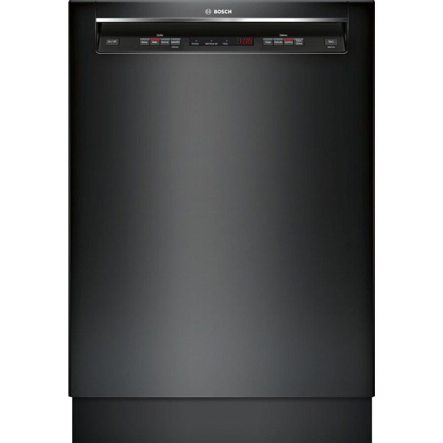 Bosch 300 Series 46-Decibel Built-In Dishwasher (Black) (Common: 24-in; Actual: 23.625-in) ENERGY STAR