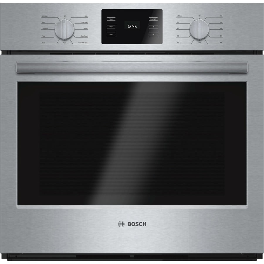Bosch 500 Series Self-Cleaning Convection Single Electric Wall Oven (Steel-Stainless) (Common: 30-in; Actual 29.75-in)