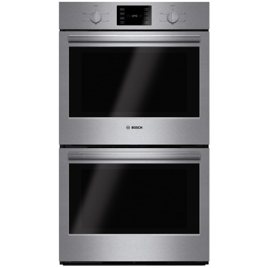 Bosch 500 Series Double Electric Wall Oven (Steel-Stainless) (Common: 30-in; Actual: 29.75-in)