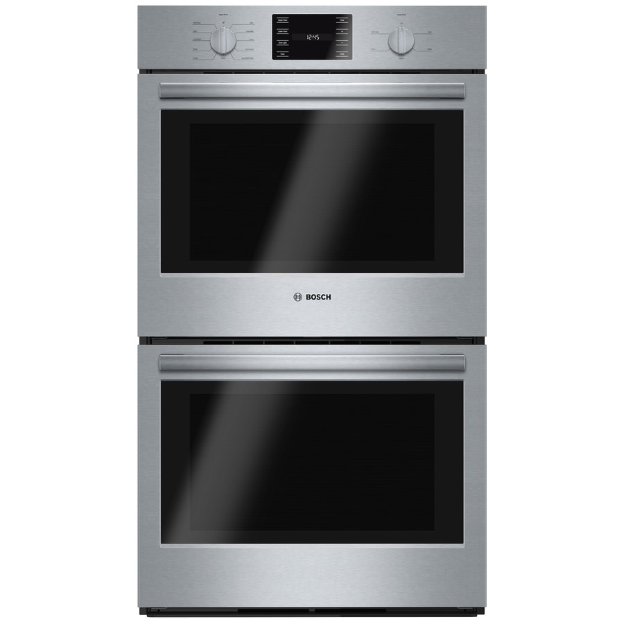 Bosch 500 Series Convection Double Electric Wall Oven (Steel-Stainless) (Common: 30-in; Actual: 29.75-in)